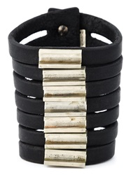 Rick Owens Multi Band Bracelet Black