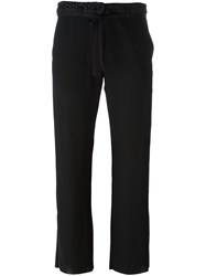 Ann Demeulemeester Blanche Cropped Trousers Black