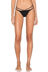 Pilyq Strappy Twiggy Teeny Bikini Bottom Black
