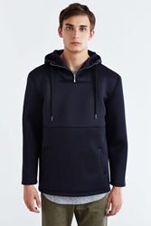 Urban Outfitters Structured Hooded Anorak Jacket Navy