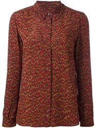 Vanessa Seward Floral Print Shirt Red