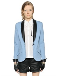 Karl Lagerfeld Cotton Denim And Nappa Leather Jacket