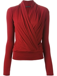 Plein Sud Jeans Plein Sud Wrap Top Red