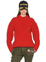 Dsquared Wool Rib Knit Sweater