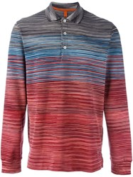 Missoni Gradient Striped Polo Shirt Multicolour