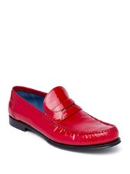 Dolce And Gabbana Genova Patent Leather Loafers Red