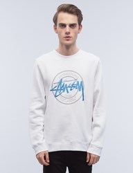 Stussy Ist Dot Applique Crewneck Sweatshirt
