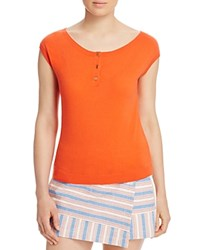 Tory Burch Sydney Cap Sleeve Cashmere Sweater Poppy Red