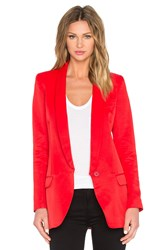 Smythe Long Shawl Blazer Red