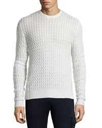 Atm Anthony Thomas Melillo Melange Cable Knit Sweater Gray