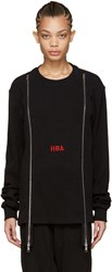 Hood By Air Black Thermal Double Zip Pullover