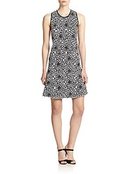 A.L.C. Buster Printed A Line Dress White Black