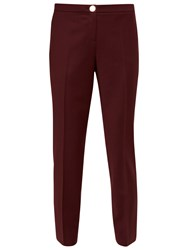 Ted Baker Delihat Straight Leg Tailored Trousers Oxblood