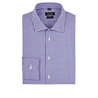 Barneys New York Men's Gingham Poplin Dress Shirt Purple