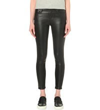 Gold Sign Virtual Coated Skinny Mid Rise Jeans Black