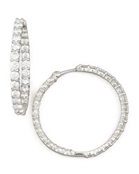 35Mm White Gold Diamond Hoop Earrings 5.55Ct Roberto Coin Red