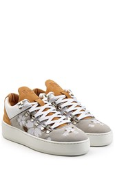 Filling Pieces Mountain Cut Japanese Embroidered Suede Sneakers Multicolor