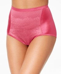 Vanity Fair Smoothing Comfort Brief Body Caress Lace Brief 13262 Pomegranate