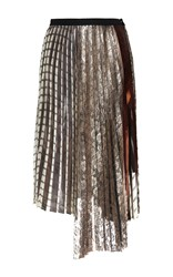 Antonio Marras Pleated Asymmetrical Skirt White Grey Brown