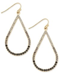 Inc International Concepts Gold Tone Ombre Stone Open Teardrop Earrings Only At Macy's Black