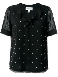 Coach Star Stud Embellished Top Black