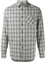 Rag And Bone 'Beach' Checked Shirt Grey