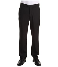 Perry Ellis Modern Fit Flat Front Bengaline Pant Black Ice Men's Dress Pants