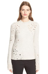 3.1 Phillip Lim Rib Knit Crewneck Sweater Sand