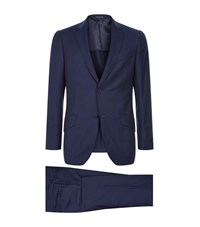 Richard James Seishin Saxony Birdseye Suit Male Blue