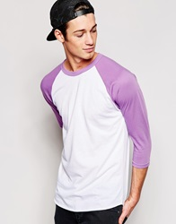 American Apparel 3 4 Sleeve Raglan T Shirt Whiteorchid