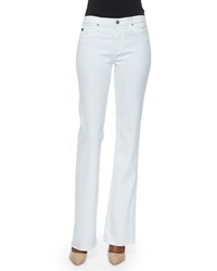 Ag Adriano Goldschmied Angel Mid Rise Boot Cut Jeans White