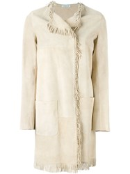 P.A.R.O.S.H. 'Mindie' Coat Nude And Neutrals