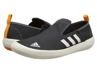 Adidas Outdoor Boat Slip On Dlx Dark Grey Chalk White Lucky Orange Men's Shoes Gray