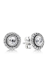 Pandora Design Pandora Stud Earrings Sterling Silver And Cubic Zirconia Brilliant Legacy