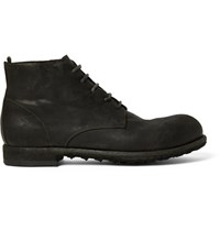 Officine Creative Distressed Leather Boots Black