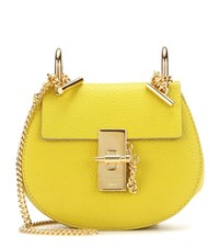 Chloe Nano Drew Leather Shoulder Bag Yellow