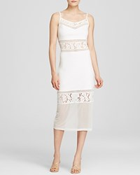 French Connection Dress Lucky Layer Midi Summer White