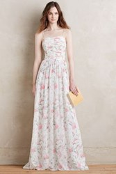 Anthropologie Winter Rose Gown Ivory