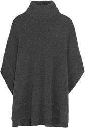 Iris And Ink Ceri Wool Blend Turtleneck Cape Charcoal