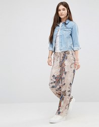 Only Feather Print Trousers Feather Print Multi