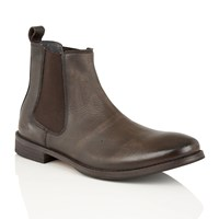 Frank Wright Omar Mens Slip On Gusset Boots Brown