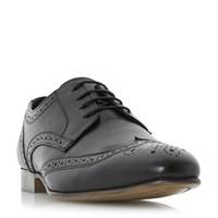 Howick Rushmoor Leather Brogue Shoes Black