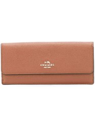 Coach Flap Continental Wallet Brown