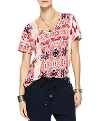 Scotch And Soda Tribal Print Tee Pink Print