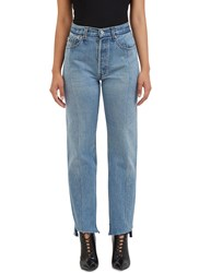 Vetements Reworked Straight Leg Jeans Blue