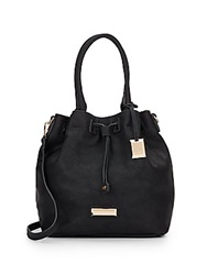 Catherine Malandrino Elena Faux Leather Bucket Bag Black