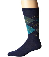 Smartwool Diamond Slim Jim Ink Heather Men's Crew Cut Socks Shoes Navy
