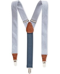 Club Room Men's Nautical Suspenders Only At Macy's White Blue