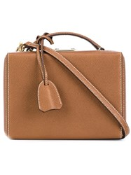Mark Cross 'Grace' Box Bag Brown