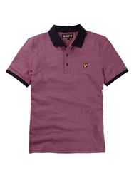 Lyle And Scott Fine Stripe Polo Shirt Hot Pink